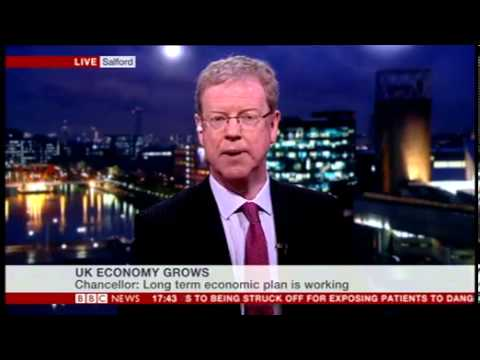 BAM MD Richard Bailey ed by Huw Edwards about GDP results 30012014