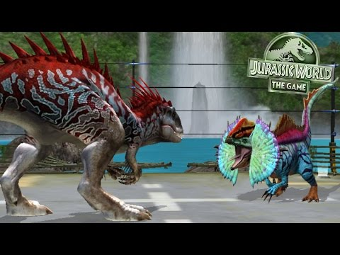 INDOMINUS REX Vs ERLIPHOSAURUS-NEW HYBRID ||  Jurassic World The Game