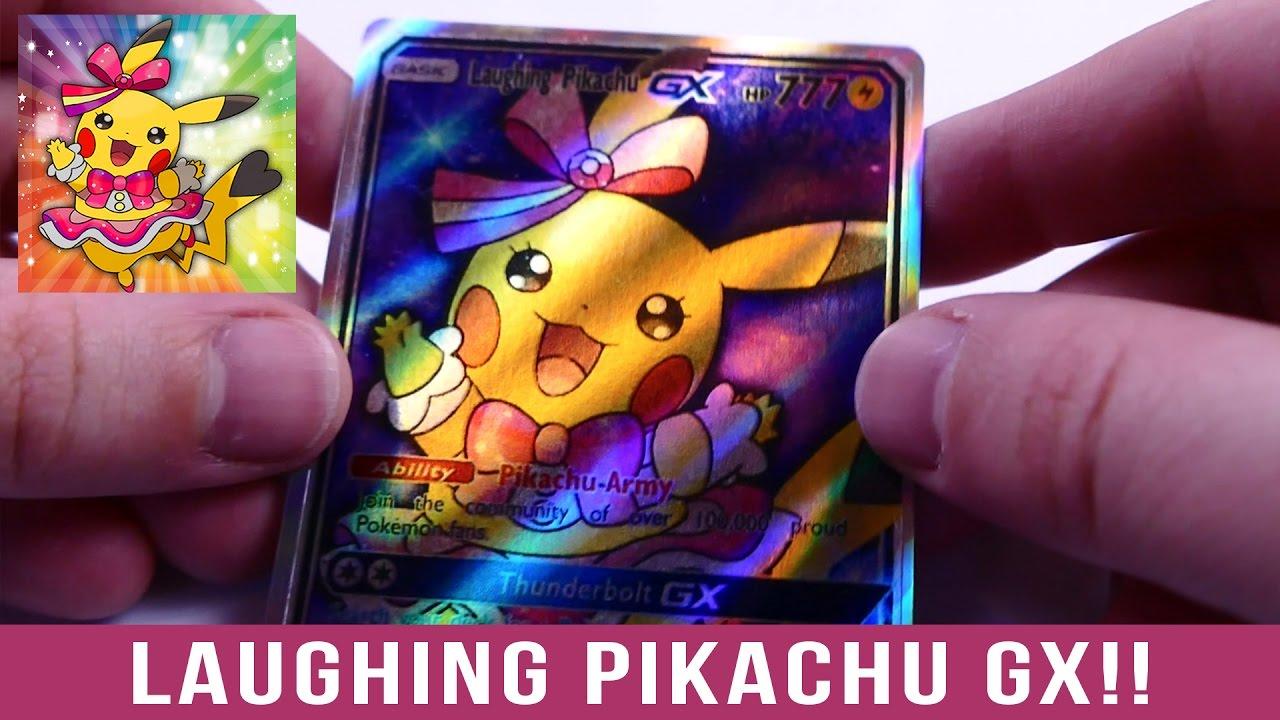 Unboxing A Laughing Pikachu Gx Custom Card Youtube