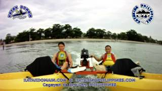 Squire Kayak Catamaran Motor version 1st test