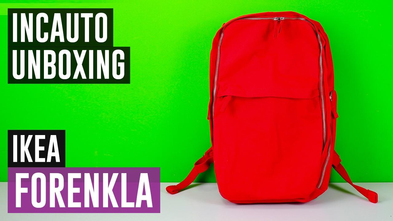 negozio online fde46 b3354 UN OTTIMO ZAINO PER 25 EURO! Ikea Forenkla #IncautoUnboxing