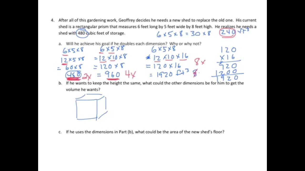 hight resolution of Volume of Rectangular Prisms Word Problems (examples