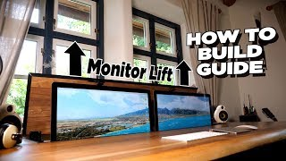 DIY Desk with dual motorized Monitor Lift - How to Build Guide | Tips, Tricks & More