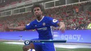 Pro Evolution Soccer 2017 - Willian Counter-attack vs. Liverpool