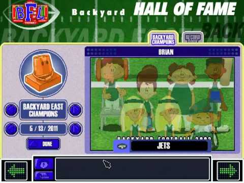 Incroyable Backyard Football 2002   Hall Of Fame Theme And Credits