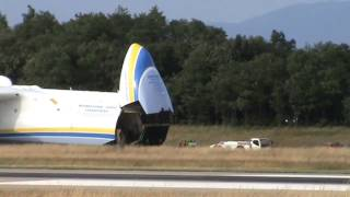 Antonov An-225 Mriya UR-82060 Arrival - Basel EuroAirport (28/06/13)