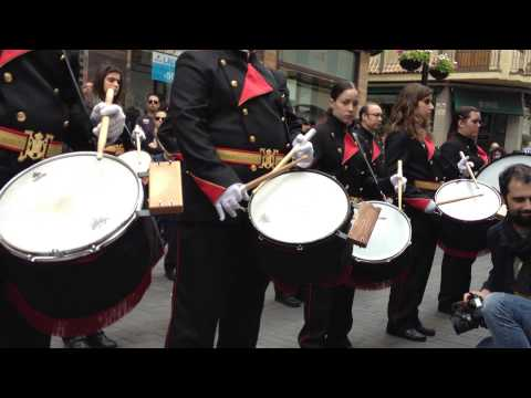 Agrupación musical Ecce Homo El Raval de Gandia. Desfile de bandas Viernes Santo 2013
