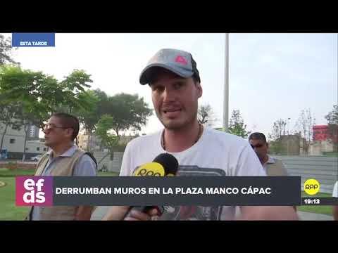 Municipalidad de La Victoria derribó los muros del museo en la plaza Manco Cápac