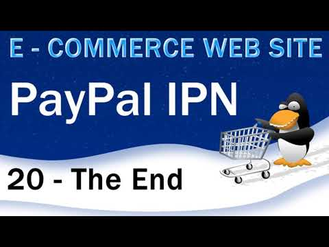 E-Commerce, PHP, mySQL,  PayPal IPN PHP Instant Payment Notification Script
