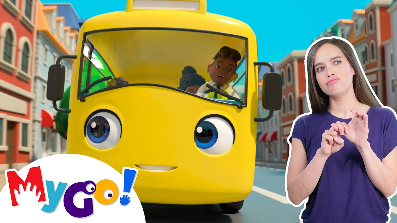 School Bus Song | MyGo! Sign Language For Kids | Little Baby Bum - Nursery Rhymes | ASL