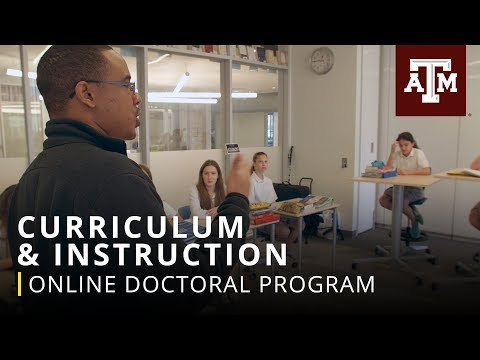 Online Doctoral Program: Curriculum & Instruction