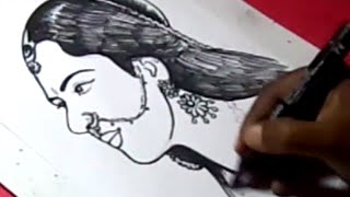 How to Draw Actress ANUSHKA Shetty DRAWING from BAAAHUBHALI for kids