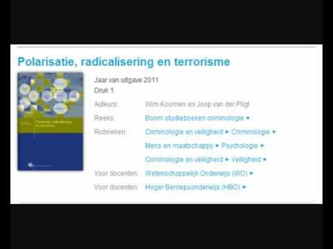 Polarisatie , Radicalisering en Terrorisme. 2011