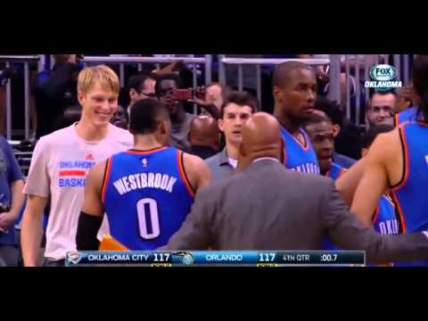 Russell Westbrook forces overtime with 40-foot bank three-pointer: Thunder vs. Magic
