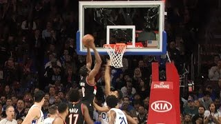 Al-Farouq Aminu Alley-Oops Over the 76ers   01.20.17