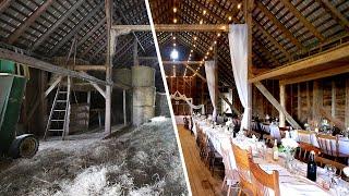 Transforming A 100+ Year Old Barn Into A Wedding Venue