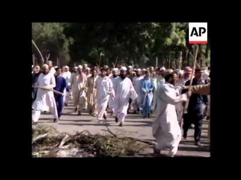 PAKISTAN: SUNNI MUSLIMS PROTEST OVER SPIRITUAL LEADERS MURDER