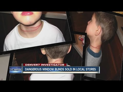 Dangerous window blinds sold in local stores
