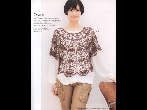 Ажурные накидки из японских журналов крючком