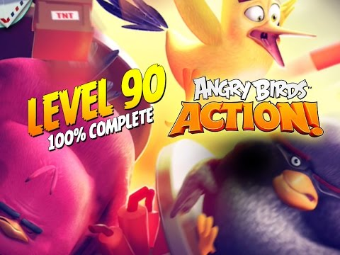 Angry Birds Action! Level 90 - 100% Complete - Let's Play
