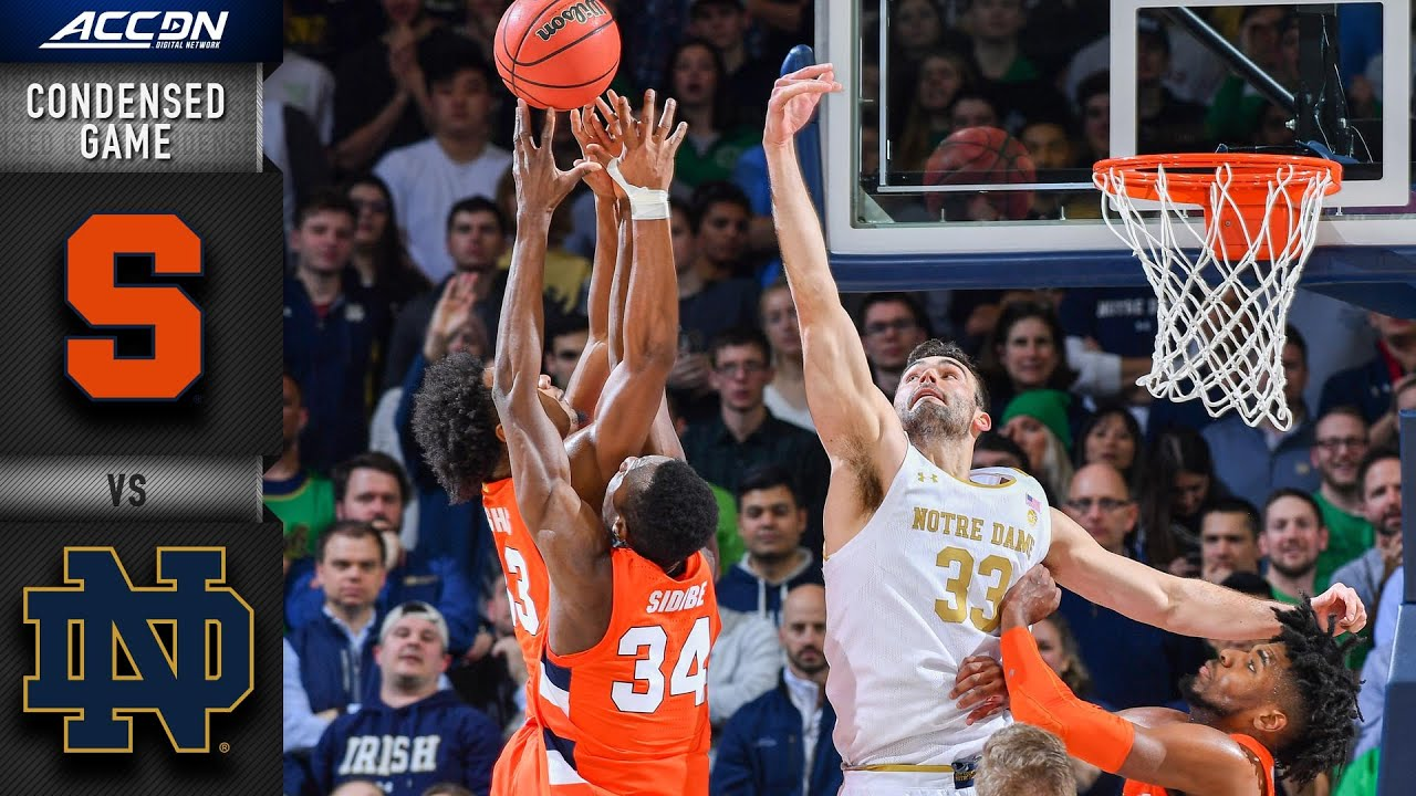 Syracuse Vs Notre Dame Condensed Game Acc Men S Basketball 2019 20