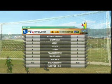Pacific Games   2015  Football: New Caledonia vs Solomon Islands