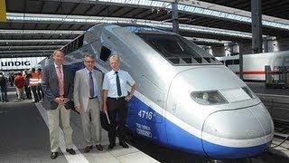 Doppelstock TGV Euroduplex 2N2 - 1. Ankunft in München am 07.08.2012