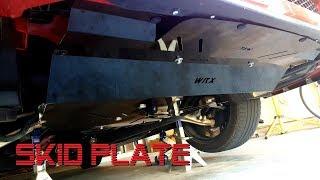 Subaru STI RED TBW Aluminum Under Tray Skid Plate for 2015