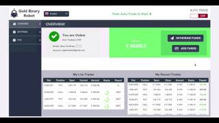 FREE BINARY OPTION ROBOT FOR AUTOMATED TRADING. 60 Second  Strategy