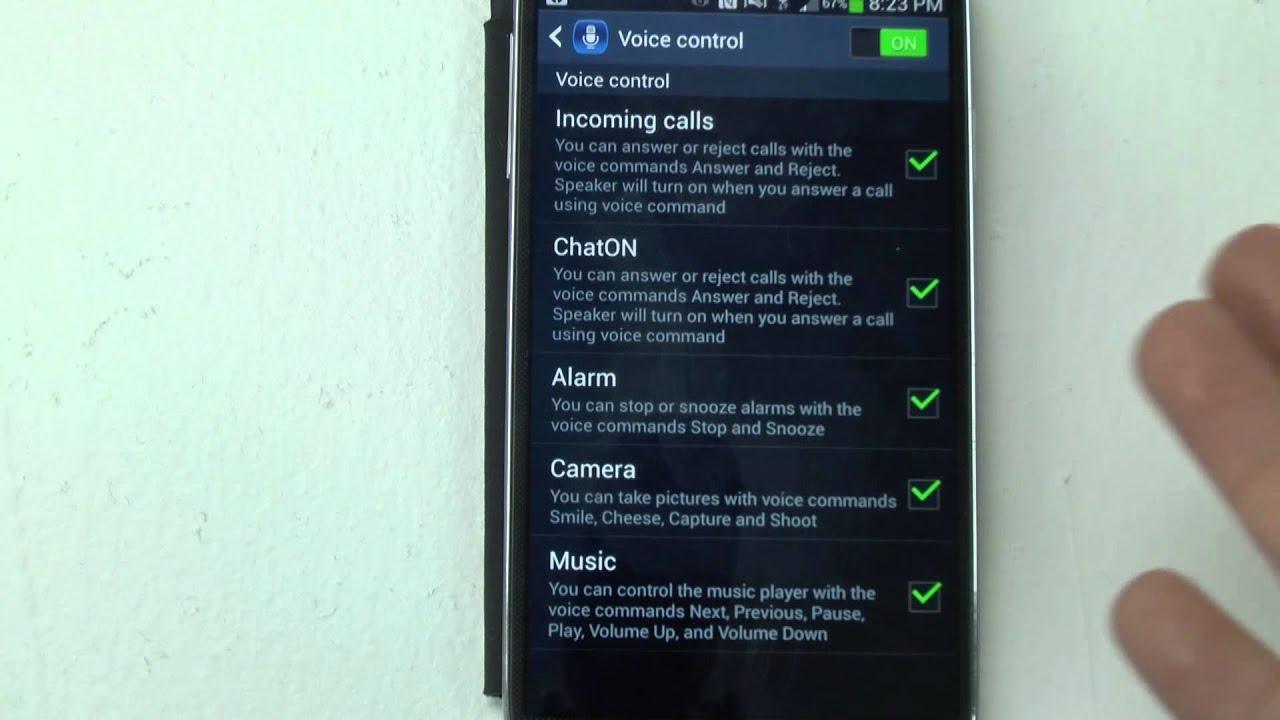 Samsung Galaxy S4  Voicemands
