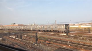 NYC Subway: Passing Coney Island Yard on the (N) Train.[Rare R42 Sitting in the Yard]