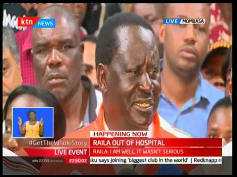 Raila Odinga: I am in very good health and very good spirits