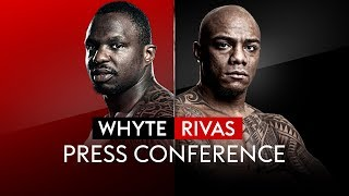 LIVE PRESS CONFERENCE! Dillian Whyte v Oscar Rivas 🥊