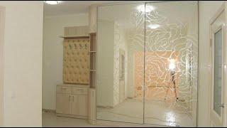 Мебель в прихожую на заказ Киев код: 9007. Прихожая шкаф-купе зеркало с рисунком пескоструй.(, 2015-02-09T11:28:17.000Z)