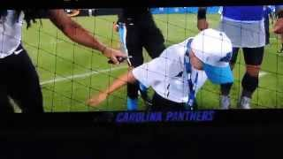 Coach Braylon Beam Dancing with the Carolina Panthers