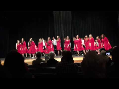 "Falcon Middle School Show Choir singing ""Living on a prayer"""