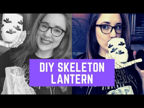 How to Make a Spooky Skeleton Lantern for Halloween