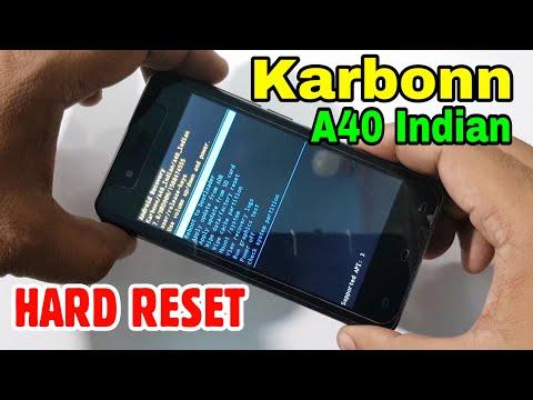 Karbonn A40 Indian Hard Reset or Pattern Unlock Easy Trick With Keys