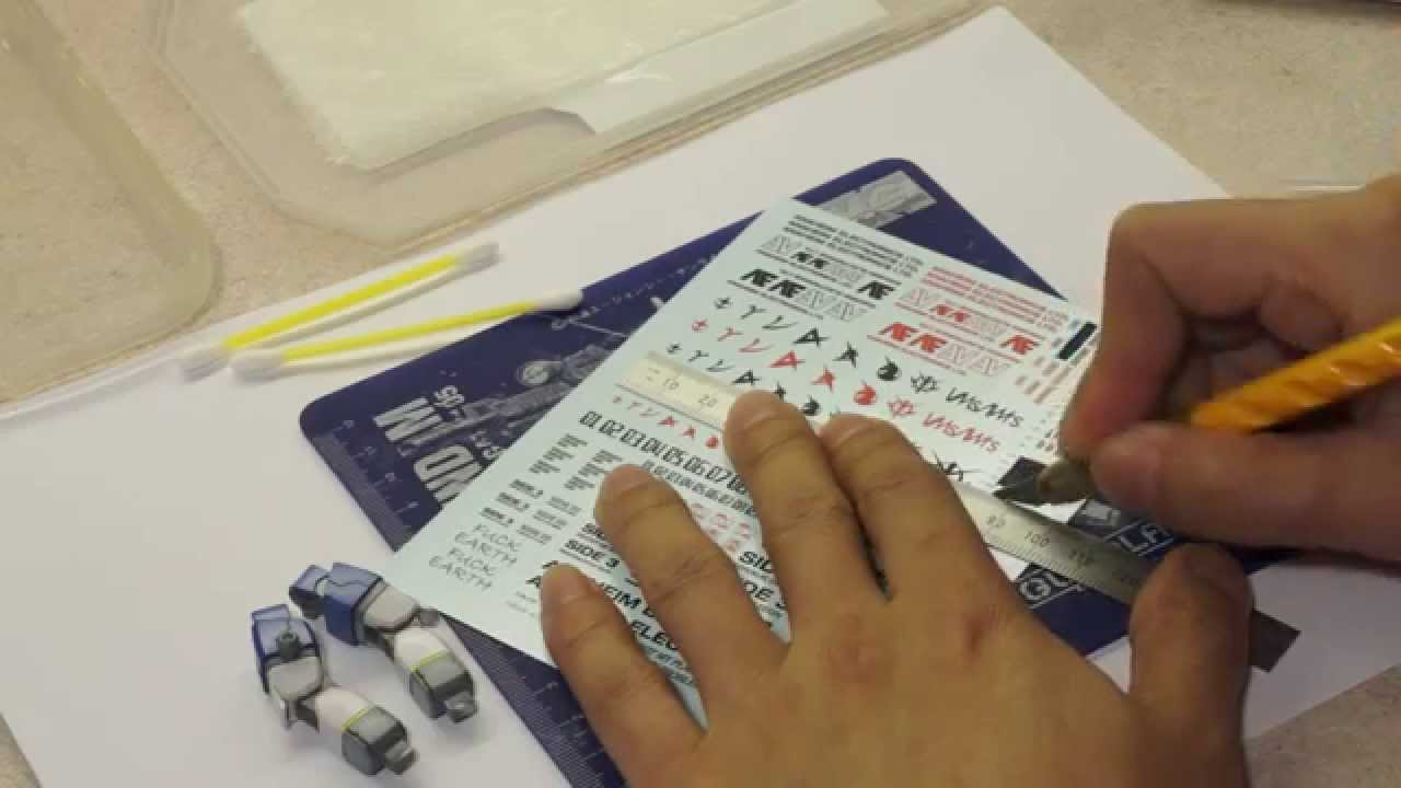 How To Apply Water Slide Decals To Gundam Model Kit Youtube
