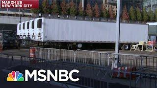 New York City Setting Up Makeshift Morgues As Coronavirus Deaths Surge | Craig Melvin | MSNBC