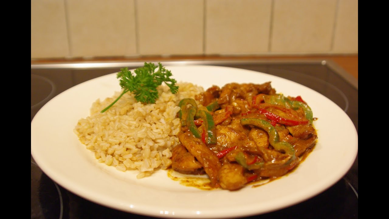 Recette du poulet sauce curry facile et rapide youtube - Plat rapide et simple ...