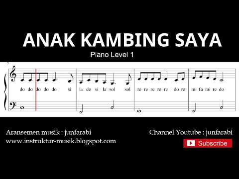 Not Balok Anak Kambing Saya - Piano Level 1 - Lagu Daerah Nusa Tenggara - Doremi