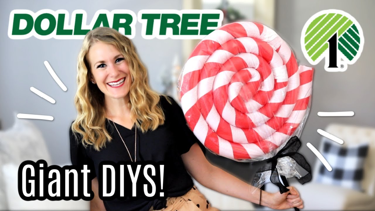FIVE *GIANT* $1 DOLLAR TREE CHRISTMAS DIYS! 🎄 (big WOWS in just 5 minutes!)