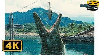 Сцена с Мозазавром | Мир Юрского периода | 4K ULTRA HD