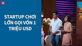 """Shark Tank Việt Nam tập 1: Startup """"chơi lớn"""" gọi vốn 1 triệu USD - Tin Tức VTV24"""