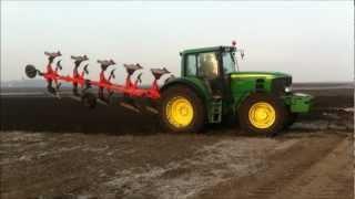 john deere 6930 P ploughing with Kuhn multimaster 122 5T (primavara 2013)