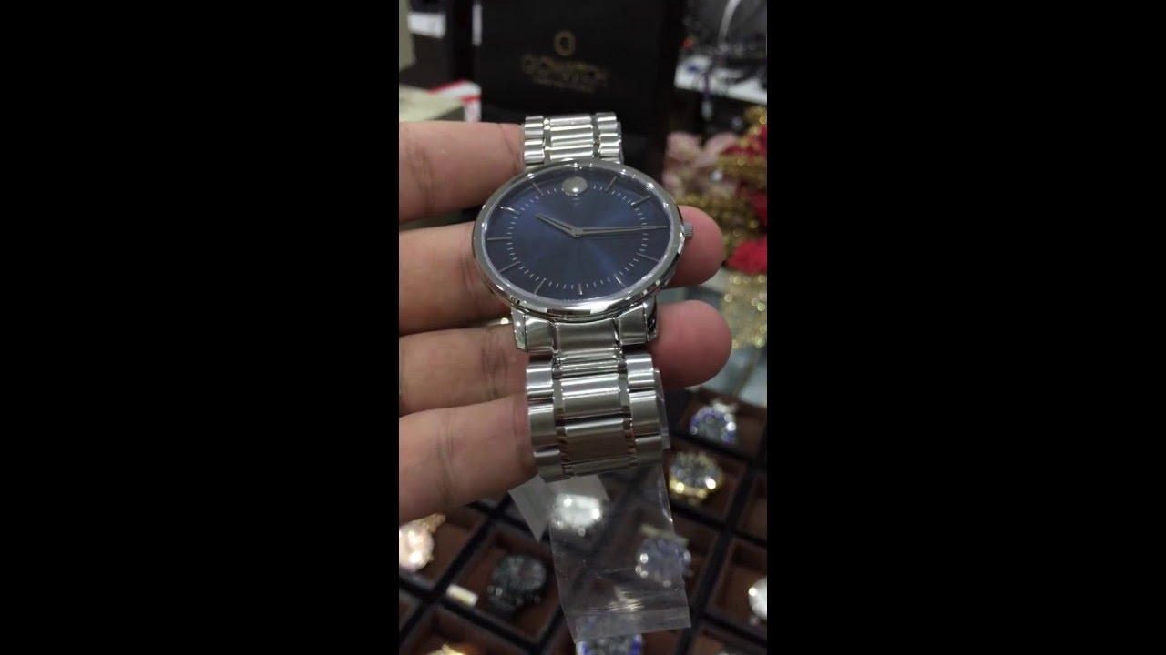 e43493a7c MOVADO TC Blue Dial Stainless Steel Men's Watch 0606688 - YouTube