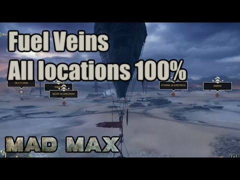 Mad Max | Fuel Veins | Jeet's Territory | Camps, Scarecrows, Snipers, Convoy, Minefields, Scavengers
