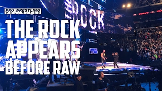 The Rock Appears Before RAW & Cuts Promo (VIDEO)