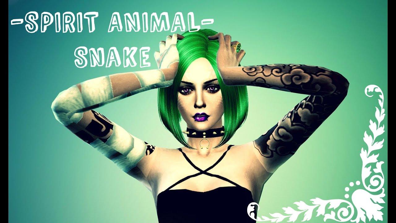 The Sims 4 Snake Thigh Tatoo: Hebi Bite (Snake) - YouTube